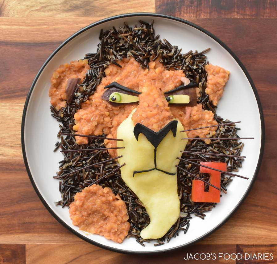 étel művészet - oroszlán király