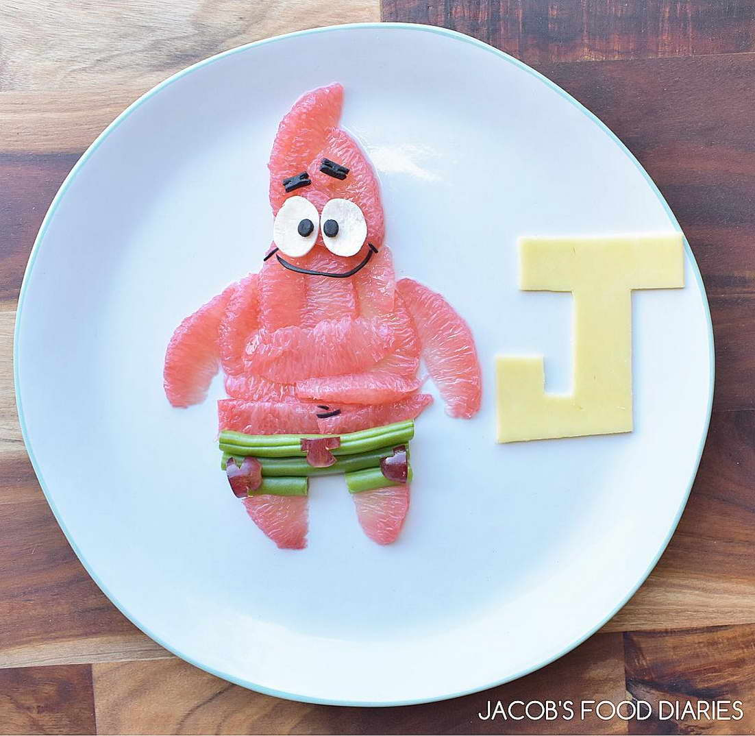 rajzfilm étel művészet - Sponge Bob
