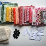 babaruha újrahasznosítás - plüss ABC