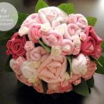 babaruha újrahasznosítás - virágcsokor