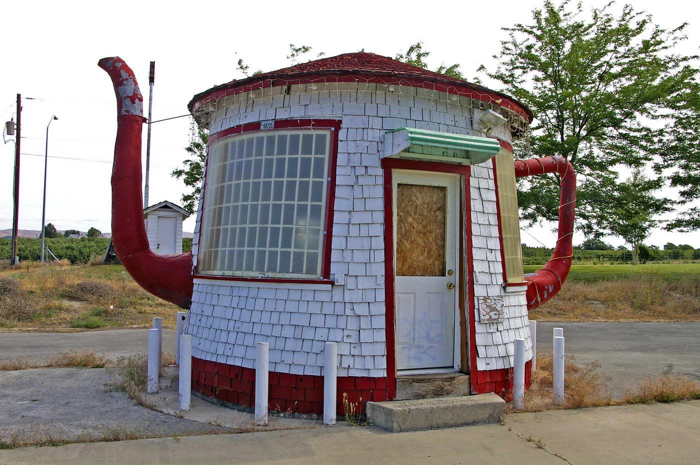 bizarr épület - teaház