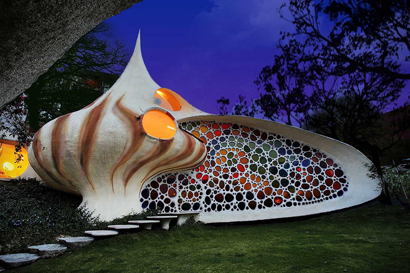 bizarr épület - kagyló