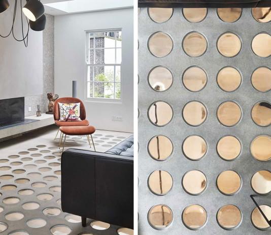 dizájn padló és fényjáték industrial stílusban modern köntössel