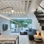 dizájn padló és fényjáték - alagsor pince