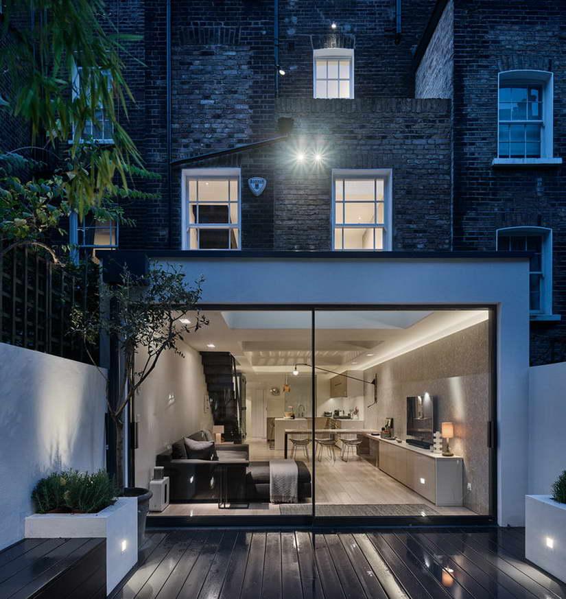 dizájn padló és fényjáték - alagsor