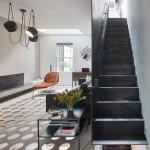 dizájn padló és fényjáték - lépcső és nappali