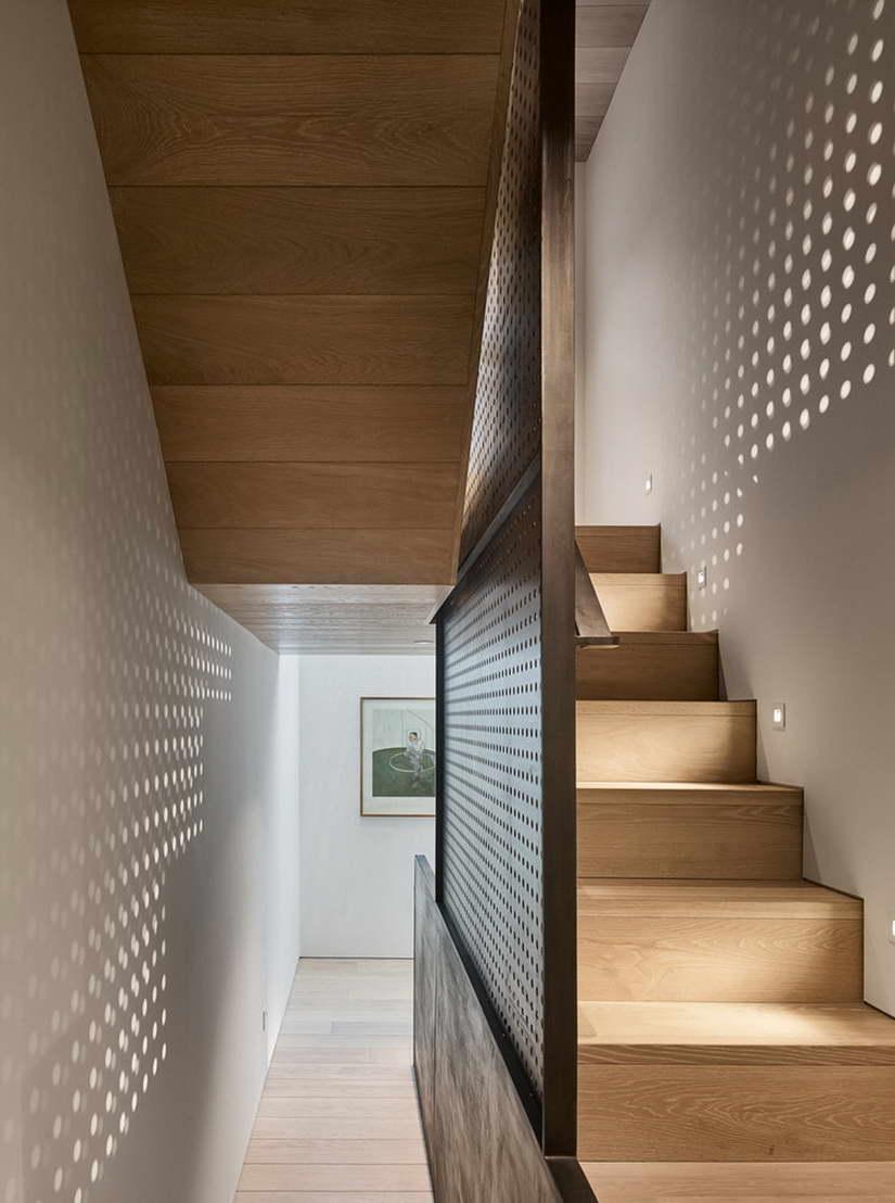 dizájn padló és fényjáték - lépcsőház