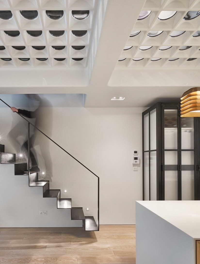 dizájn padló és fényjáték - lépcső