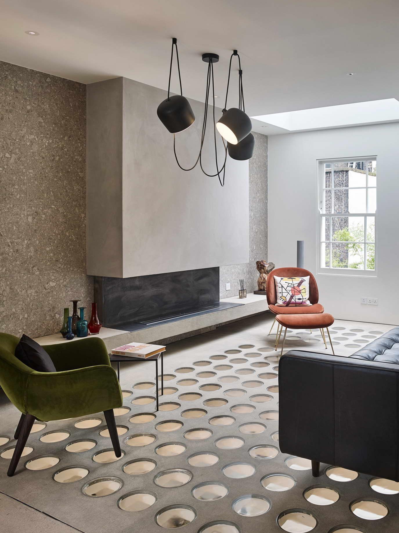dizájn padló és fényjáték - nappali