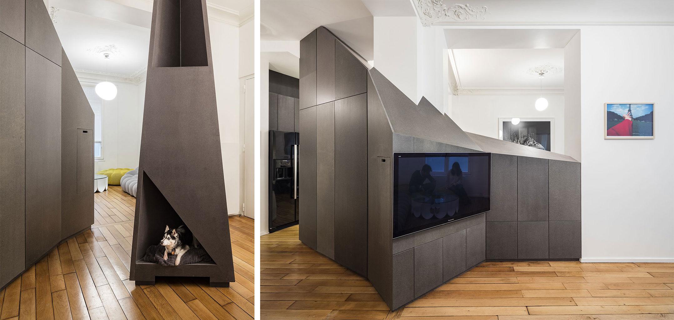 geometrikus modern lakás