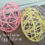 húsvéti dekoráció - fonal tojás