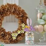 húsvéti dekoráció - nyuszi üveg