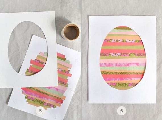 húsvéti dekoráció - papír kép készítése