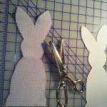 húsvéti nyuszi dekoráció készítés