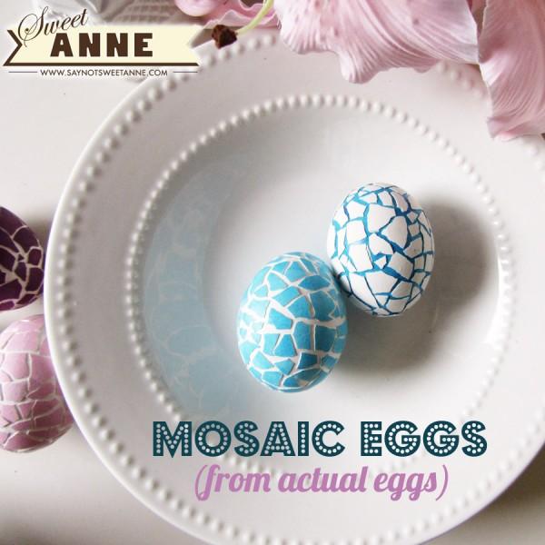 húsvéti ötletl tojásfestéshez - Mozaik húsvéti tojás