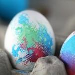húsvéti ötletl tojásfestéshez - batikolt tojás