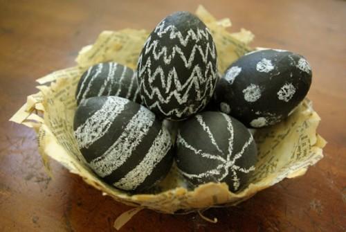húsvéti ötletl tojásfestéshez - húsvéti tojás táblafestékkel