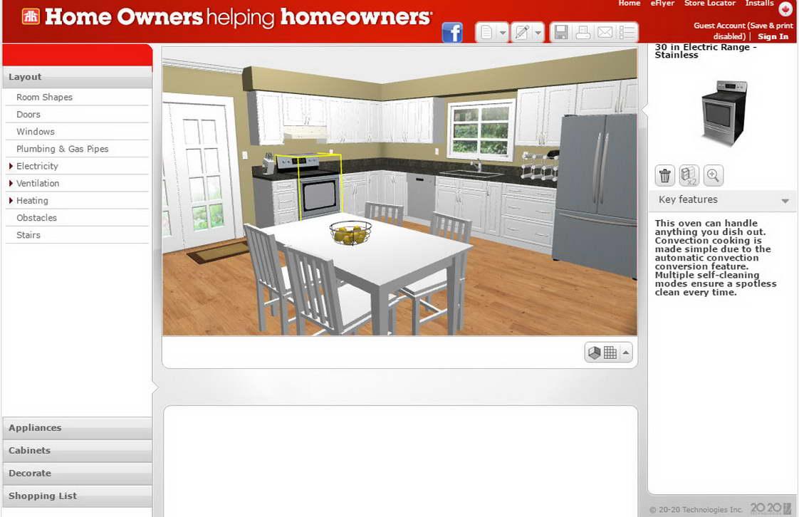 ingyenes lakberendező program konyha tervező