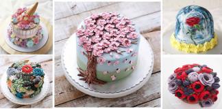 kézműves virág torta