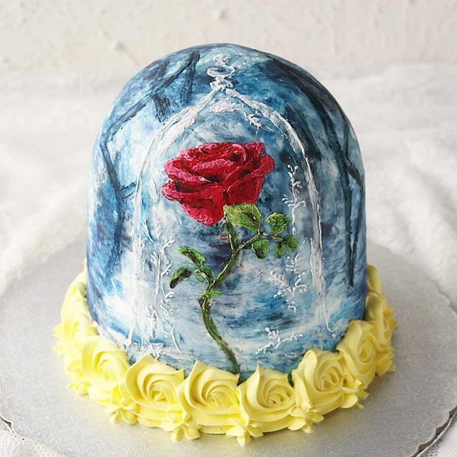 kézműves virág torta, kreatív - rózsa