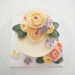 kézműves virág torta, kreatív - virágcsokor