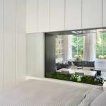 kis lakás berendezése - üveg elválasztó fal