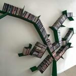 modern könyvespolc - fa fémből