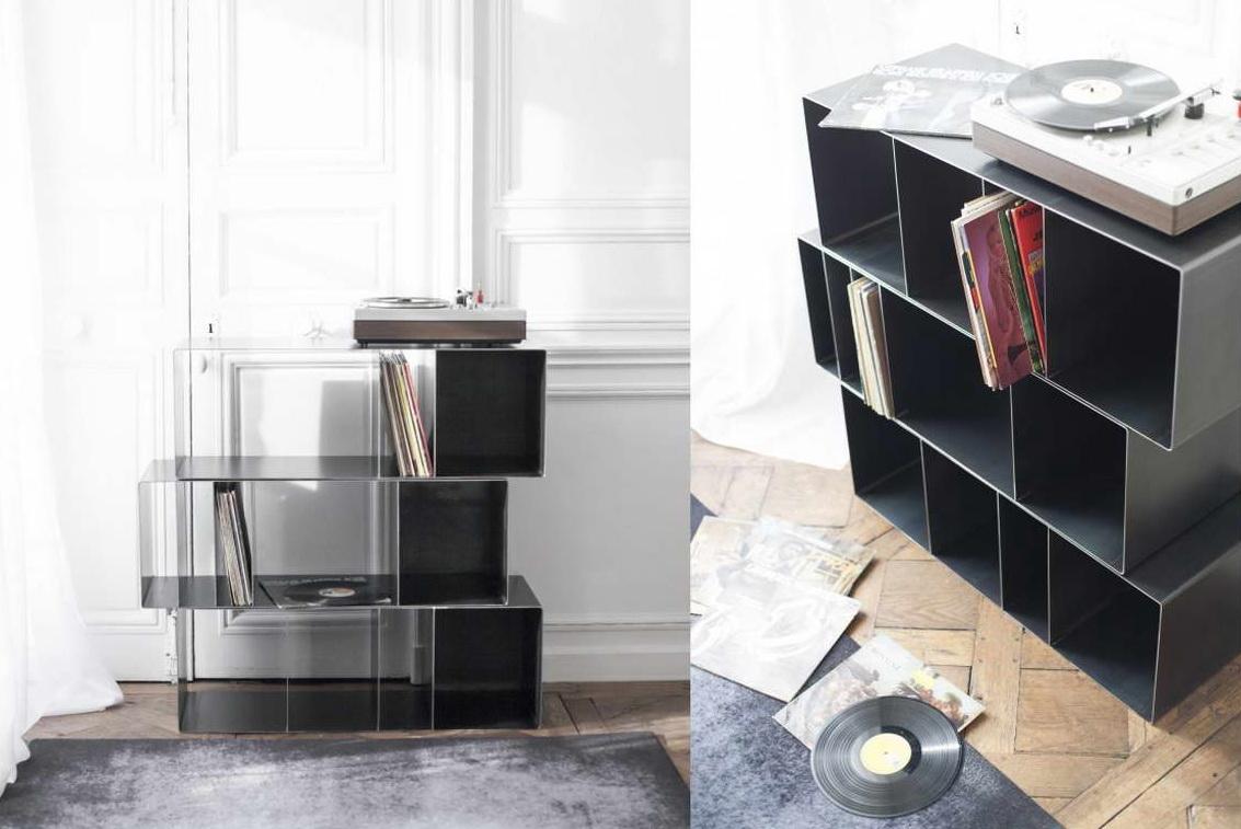 modern könyvespolc - dobozok téglatest
