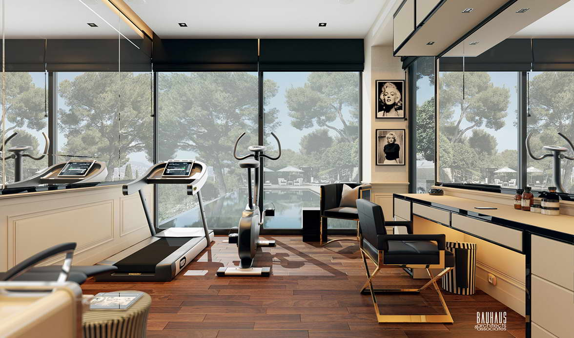 modern Art Deco nappali