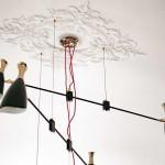 modern lakás - régi - új dizájn - nappali csillár