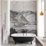 modern lakás - régi - új dizájn - fürdőszoba