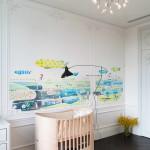 modern lakás - régi - új dizájn - gyerekszoba falfestés