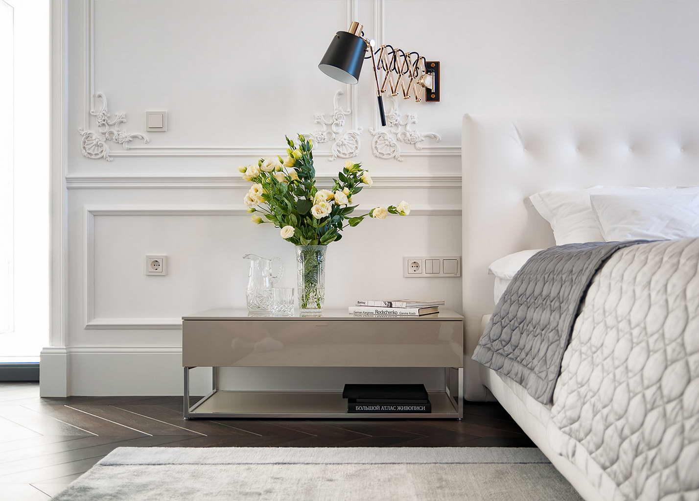 modern lakás - régi - új dizájn - hálószoba
