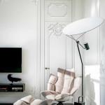 modern lakás - régi - új dizájn - nappali