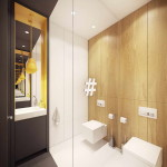 mosdó geometrikus formákkal - szép ház