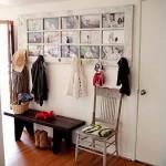 régi ajtó újrahasznosítás - előszobafal