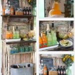 régi-ajtó-kreatív-újrahasznosítás-kerti bárszekrény
