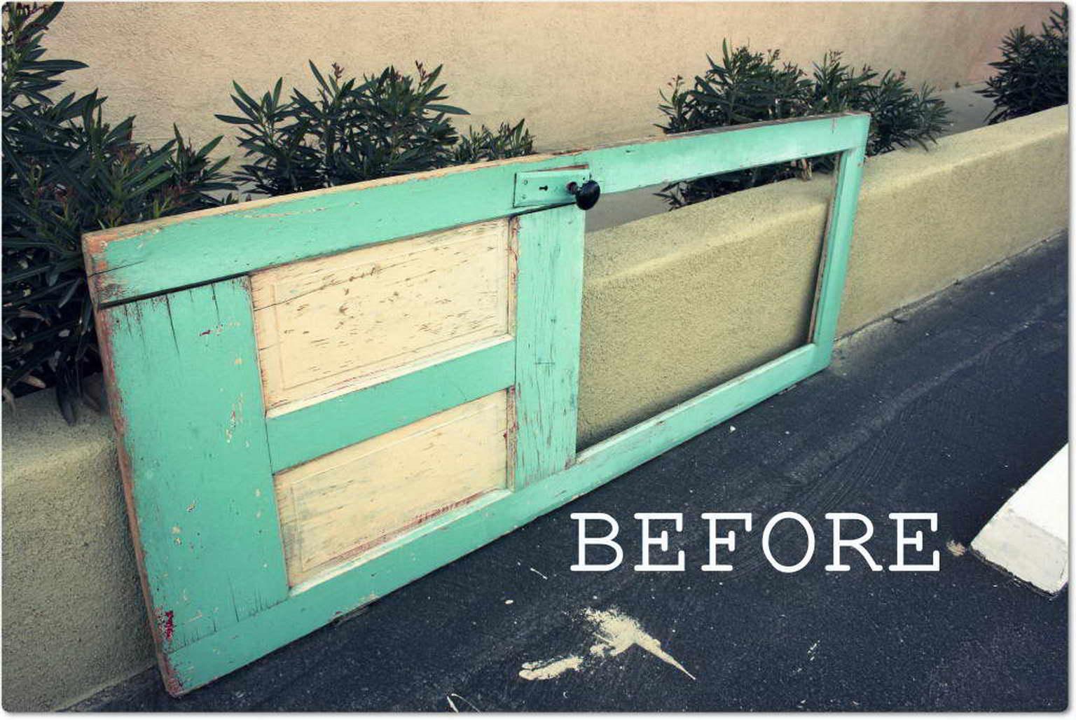 régi-ajtó-kreatív-újrahasznosítás - vintage polc