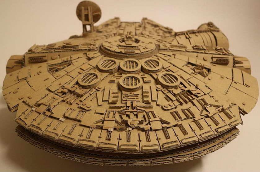 régi papírdobozok újrahasznosítása - csillagok háborűja - millenium falcon - ezeréves sólyom
