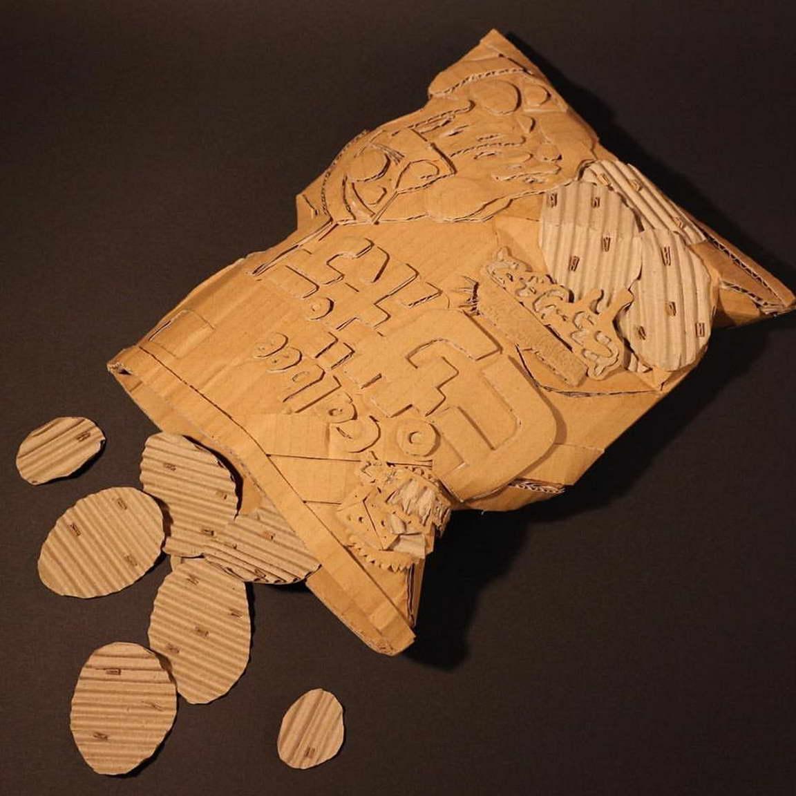 régi papírdobozok újrahasznosítása - chips