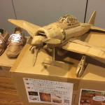 régi papírdobozok újrahasznosítása - repülő