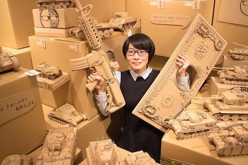 régi papírdobozok újrahasznosítása - tankok