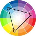 szoba szín kiválasztás - színháromszög