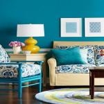 szoba szín és fal szín kiválasztása - kék