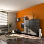 szoba szín és fal szín kiválasztása - narancs