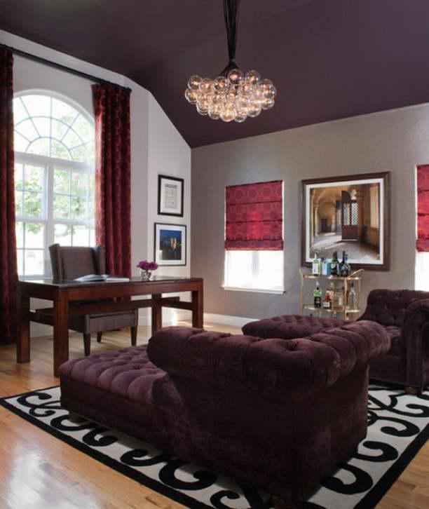 szoba szín választás - sötét mennyezet