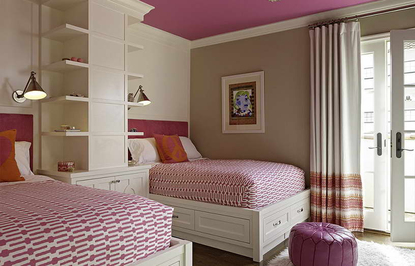 szoba szín választás - többszínű lakás