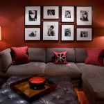 szoba szín és fal szín kiválasztása - vörös