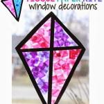 ablaküveg dekoráció papírsárkány