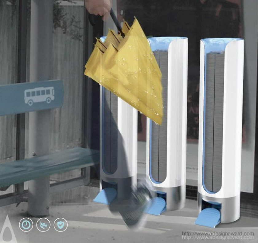 A' design esernyőszárító